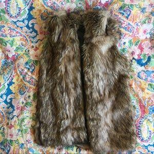 Hooded Faux Fur Vest